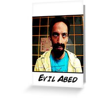 Evil Abed Greeting Card