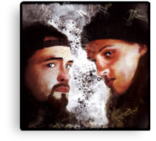 Jay and Silent Bob Stare Down Canvas Print