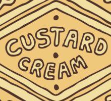 Custard Cream British Biscuit Sticker