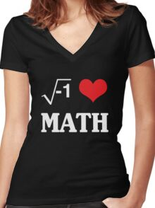 I love Math Women's Fitted V-Neck T-Shirt