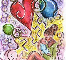 Mama And Her Baby by Jenna Michelle Pink