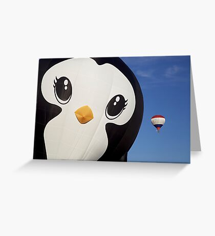 Penguin Balloon Greeting Card