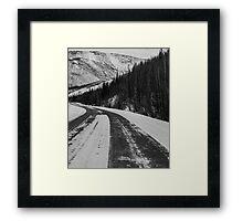 Winding road , Fairbanks , Alaska  Framed Print