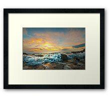 Portencross Frothy Sundown Framed Print