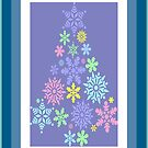 Colorful Snowflake Christmas Tree by taiche