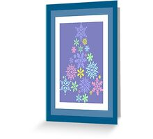Colorful Snowflake Christmas Tree Greeting Card