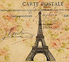 vintage floral paris eiffel tower fashion by lfang77