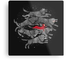 Run with the pack Metal Print