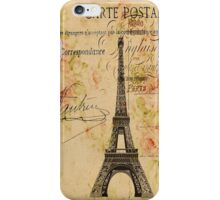 vintage floral paris eiffel tower fashion iPhone Case/Skin