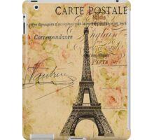 vintage floral paris eiffel tower fashion iPad Case/Skin