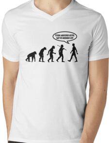 Evolution of Man Messed Up Mens V-Neck T-Shirt