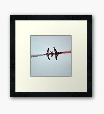 Red Arrows Crossover Framed Print