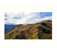 Steep Farms In The Andes Art Print