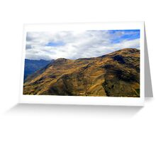 Steep Farms In The Andes Greeting Card