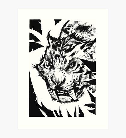 Saber-toothed Art Print