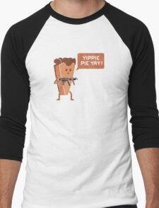 Pie Hard Men's Baseball ¾ T-Shirt