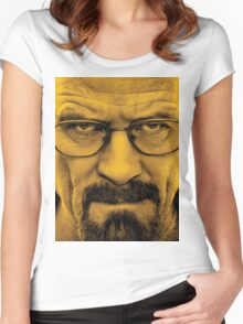 """Breaking Bad - Walter White (Bryan Cranston) """"The One Who Knocks"""" Women's Fitted Scoop T-Shirt"""