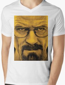 "Breaking Bad - Walter White (Bryan Cranston) ""The One Who Knocks"" Mens V-Neck T-Shirt"