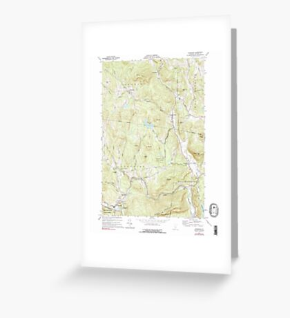 USGS Topo Map  Vermont VT Cavendish 337361 1972 24000 Greeting Card
