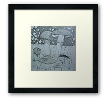 In the Forest, Under a Bush Framed Print