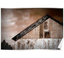 This Ol' Barn Sees Storms Aplenty Poster