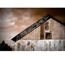 This Ol' Barn Sees Storms Aplenty Photographic Print