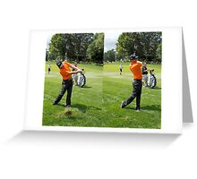 It doesn't pay to miss the Fairway Greeting Card