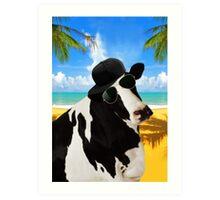 Cool Cow  Art Print