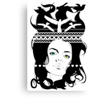 Aztec girl Canvas Print