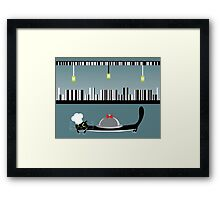 Cook cat. Funny cartoon and vector character Framed Print