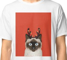 Reindeer Costume for cat cute gift idea for office party cat person in your life Classic T-Shirt