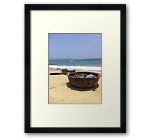 Coracle fishing boats Framed Print