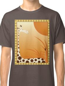 big giraffe on background as savannah with frame Classic T-Shirt