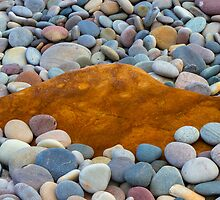 COVE BAY - PEBBLES AND A ROCK by JASPERIMAGE