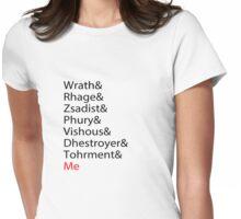 Black Dagger  Womens Fitted T-Shirt