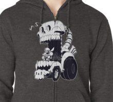 Skeleton Car Zipped Hoodie