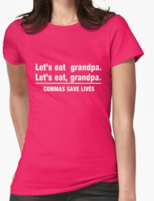 Let's Eat Grandpa Womens Fitted T-Shirt