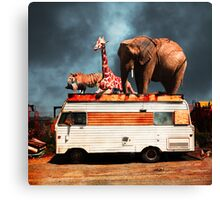 Barnum and Bailey Goes On a Road Trip 5D22705 Square Canvas Print