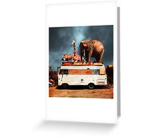 Barnum and Bailey Goes On a Road Trip 5D22705 Square Greeting Card