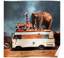 Barnum and Bailey Goes On a Road Trip 5D22705 Square Poster