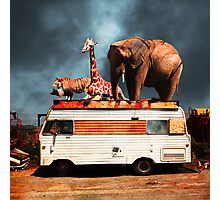 Barnum and Bailey Goes On a Road Trip 5D22705 Square Photographic Print