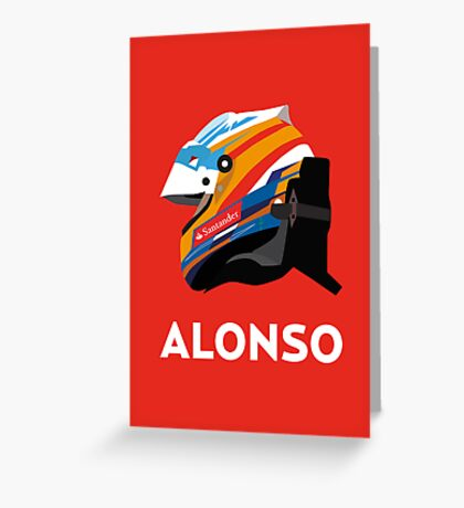 Fernando Alonso 2013 Season Helmet  Greeting Card