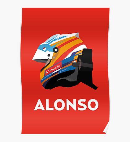 Fernando Alonso 2013 Season Helmet  Poster