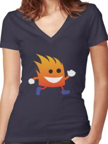 Inflammy Women's Fitted V-Neck T-Shirt