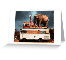 Barnum and Baileys Fabulous Road Trip Vacation Across The USA Circa 2013 5D22705 with text Greeting Card