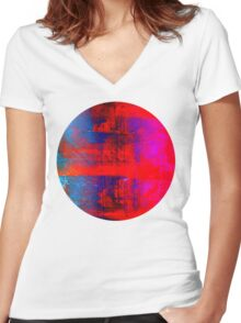mixing modification Women's Fitted V-Neck T-Shirt