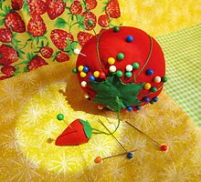 Tomato Pincushion by MSRowe Art and Design