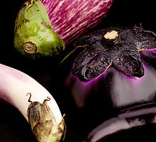 Purple Eggplants by Jerry Deutsch