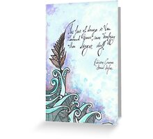 Illustrated quote, Daniel Defoe Greeting Card