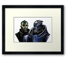 Mass Effect - Thane and Garrus Framed Print